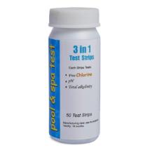 Mérőcsík készlet, szabad klór pH lugosság 50db-os