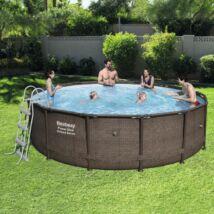 LIPARI rattan hatású fémvázas medence szett 427 x 107 cm