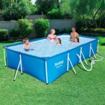 FLORIDA 400x211x81 cm szögletes fémvázas medence szett