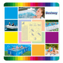 Bestway vízalatti javító folt 6,5 x 6,5 cm