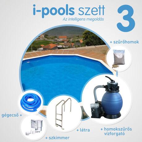 I-POOLS 3 kerek medence szett 3,5 x 1,2 m