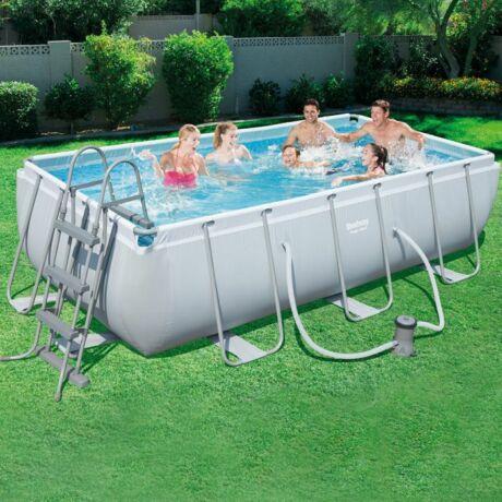 CAPRI 404x201x100 cm szögletes fémvázas medence szett