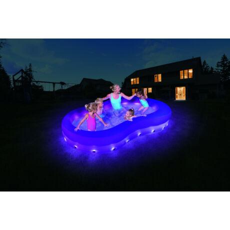 Színhullám LED-világítású medence 280 x 157 x 46 cm