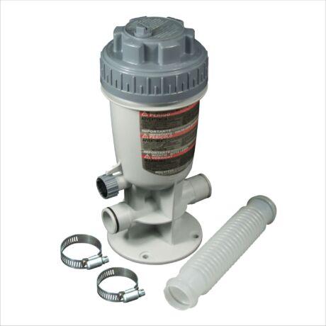 Vegyszeradagoló rendszer, gégecsöves vízforgatóhoz