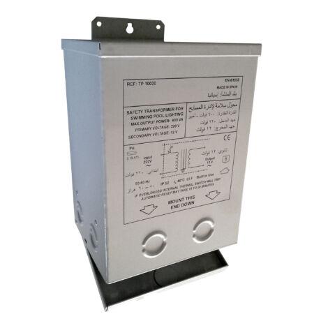 Transzformátor fémházban 230/12 V-300 W