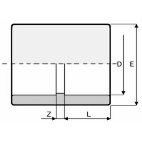 PVC Karmantyú D63