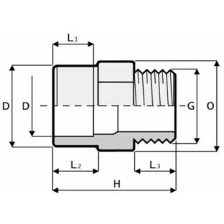 PVC KM Karmantyú D63