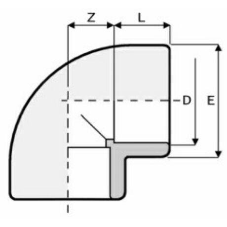 PVC könyök D50